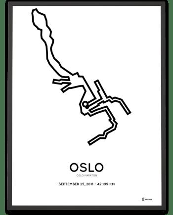 2011 oslo maraton course poster