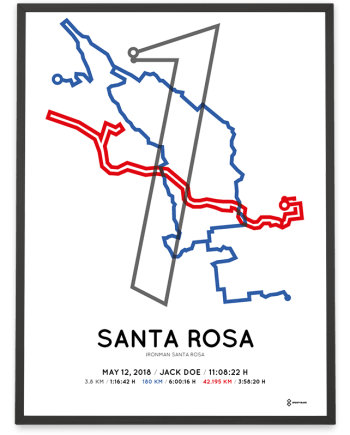 2018 Ironman Santa Rosa course poster