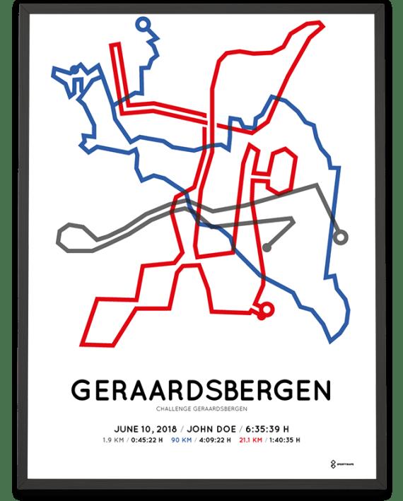 2018 Challenge Geraardsbergen route poster