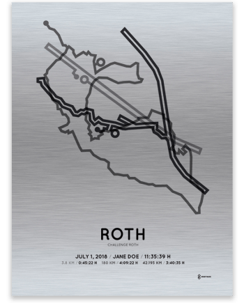 2018 Challenge Roth course aluminum print
