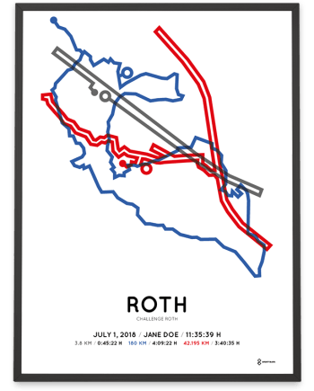 2018 Challenge Roth route poster color
