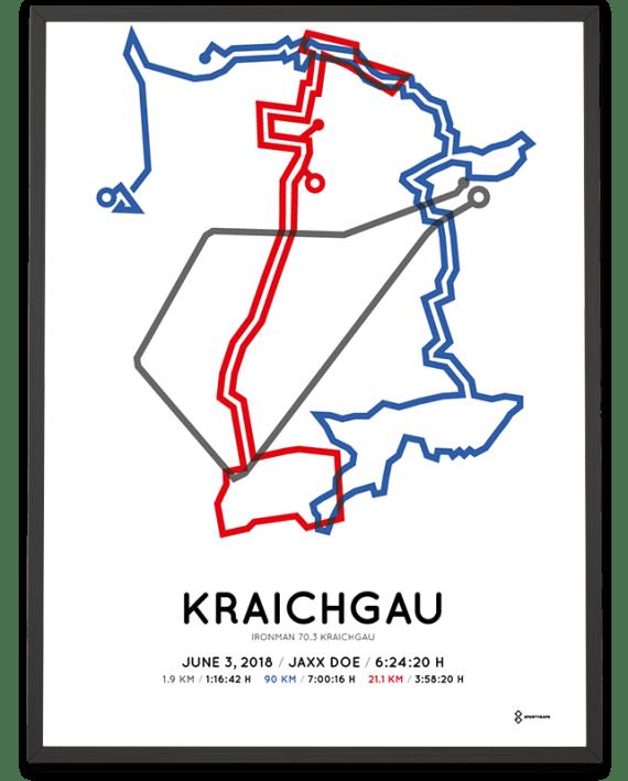 2018 Ironman 70.3 Kraichgau route poster