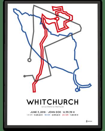 2018 UK ultimate half triathlon course poster
