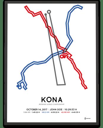 2017 Ironman World Championship Kona course poster