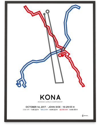 2017 Ironman World Championship Kona course poster