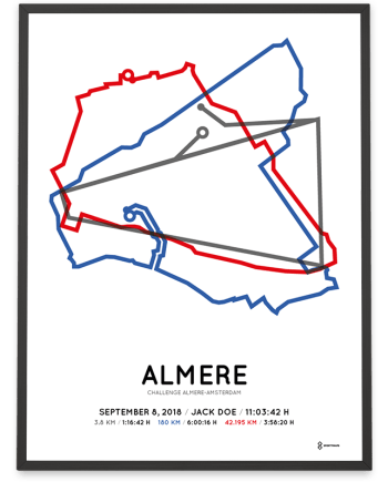 2018 Challenge almere-amsterdam long-distance route poster