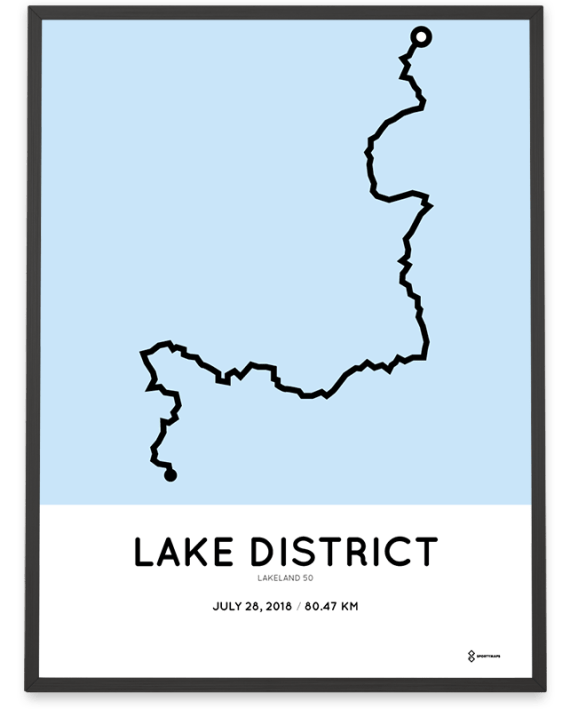 2018 Lakeland 50 ultratrail course poster