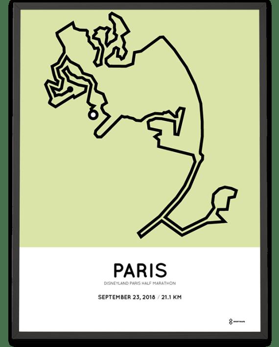 2018 Disneyland Paris half marathon course print