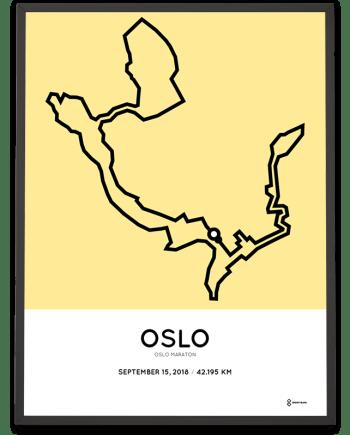 2018 Oslo marathon course poster