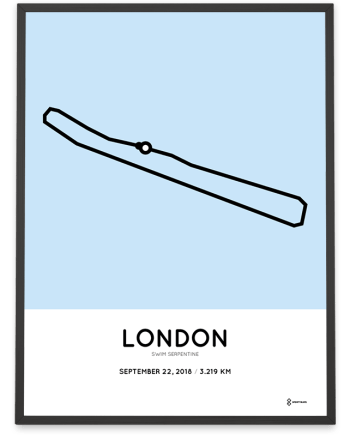2018 Swim Serpentine course poster
