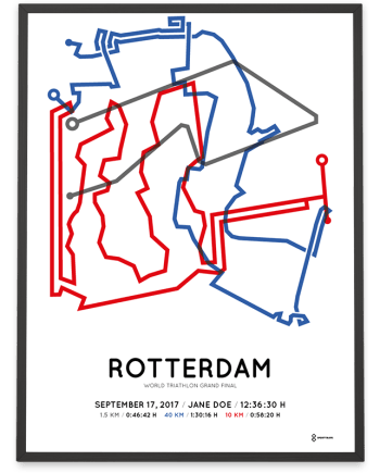 2017 World triathlon grand final rotterdam route poster