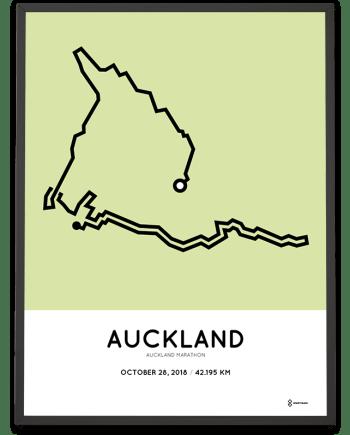 2018 Auckland marathon course poster