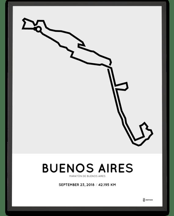 2018 Buenos Aires marathon course poster