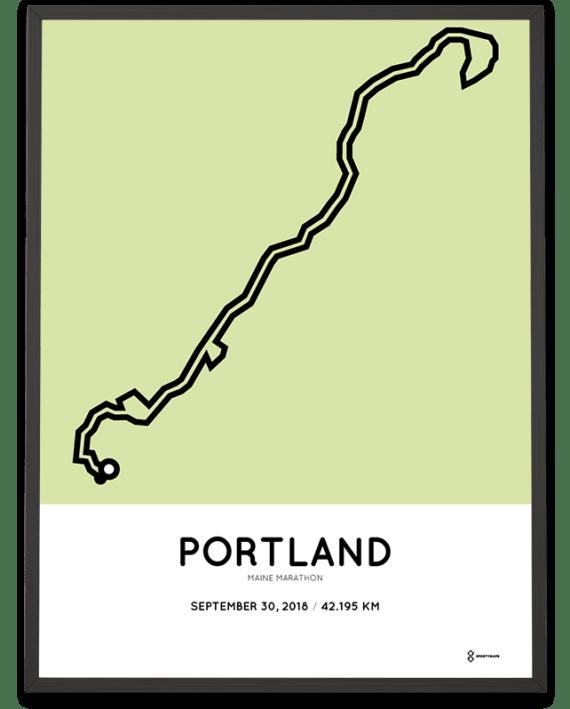 2018 Maine marathon sportymaps course poster