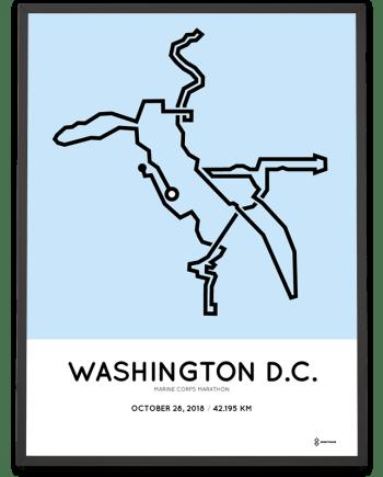2018 Marine Corps marathon washington course poster
