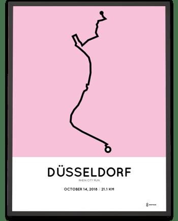 2018 Rhein City run halbmarathon strecke poster