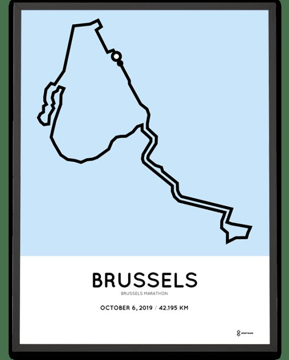 2019 Brussels marathon parcours route print