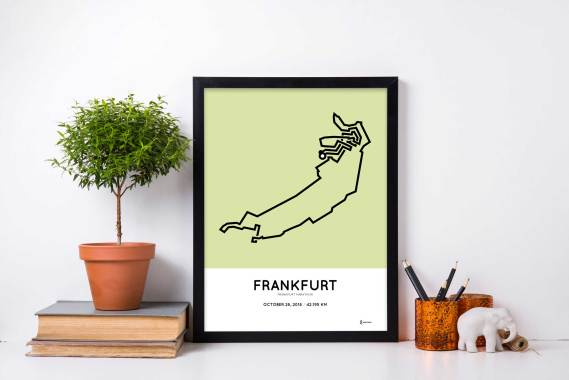 2018 Frankurt marathon strecke print