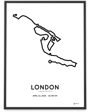 2006 London marathon course poster