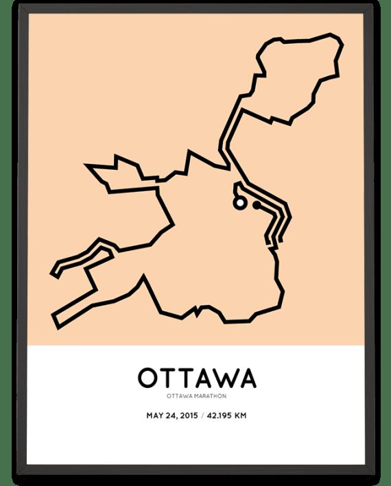 2015 Ottawa marathon routemap poster