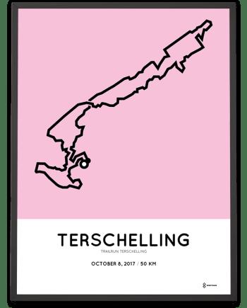 2017 Trailrun terschelling 50km parcours poster