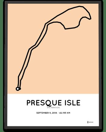 2018 Erie marathon course map poster