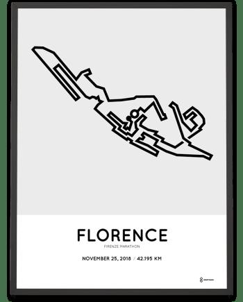 2018 Florence marathon course poster