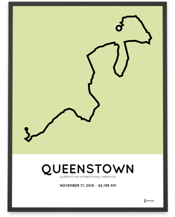 2018 Queenstown International marathon course poster