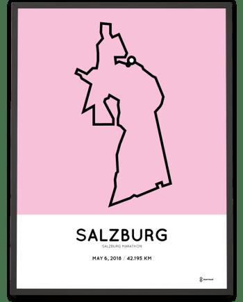 2018 Salzburg marathon routemap poster