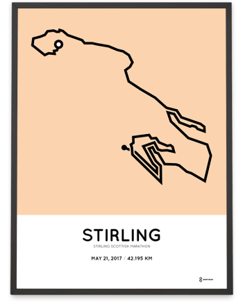 2017 Stirling scottish marathon route poster