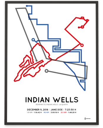 2018 Ironman 70.3 Indian wells la quinta sportymaps poster