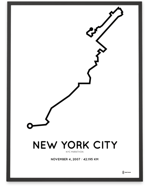 2007 New York City marathon course poster