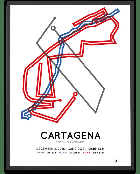 2018 Ironman 70.3 Cartagena course poster