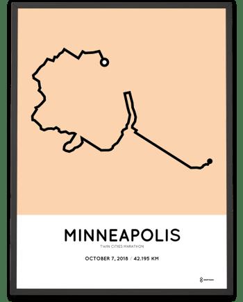 2018 Twin Cities Marathon sportymaps course poster