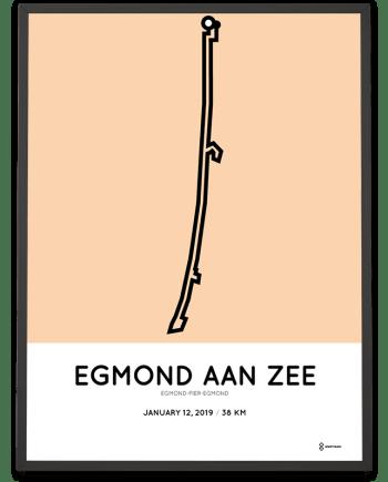 2019 Egmond-Pier-Egmond parcours poster
