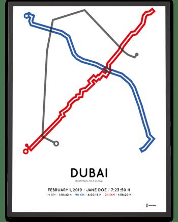 2019 Ironman 70.3 Dubai course poster