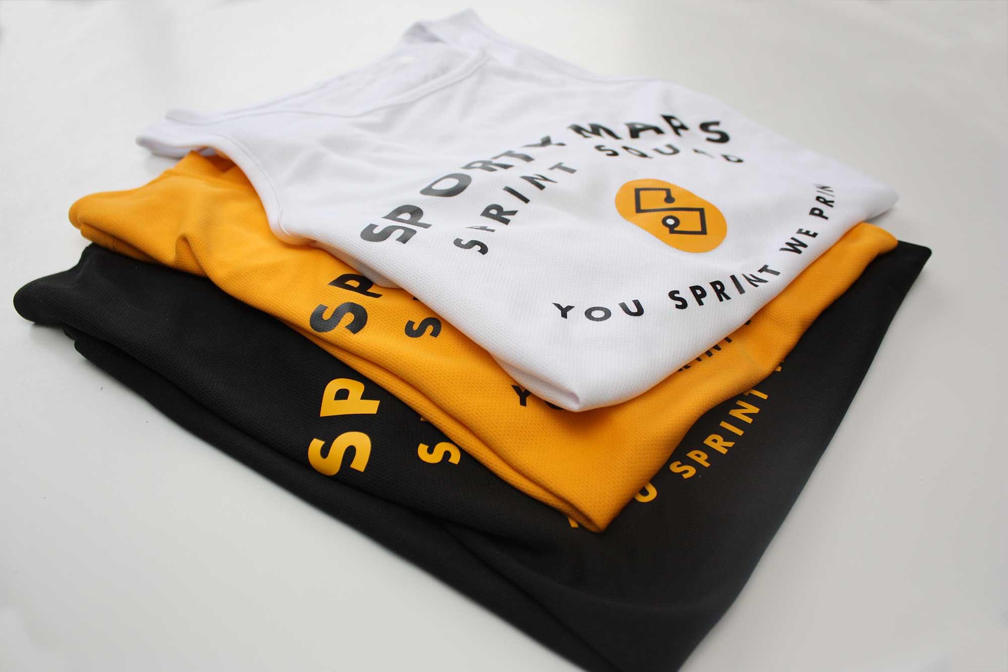 Sportymaps running shirts stack