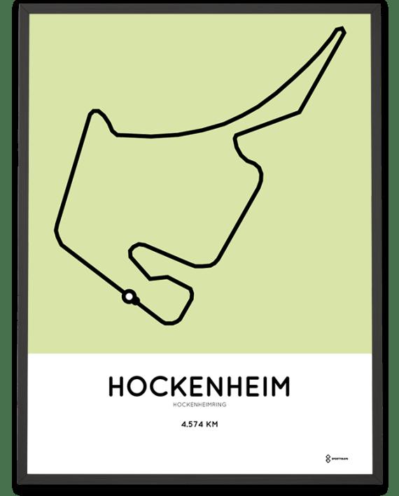 Hockenheimring circuit poster