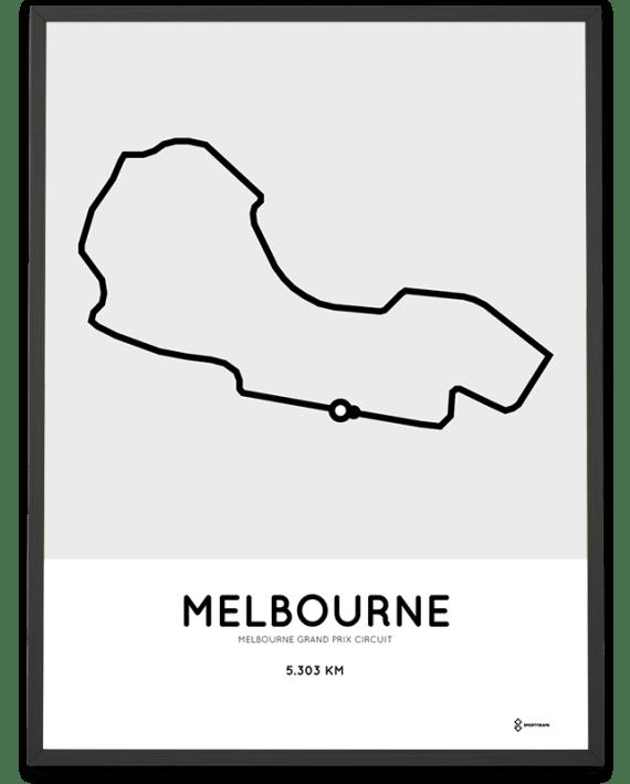 Melbourne F1 circuit print