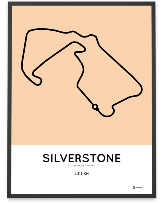 Silverstone Circuit racetrack poster