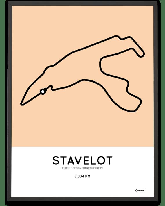 Circuit de Spa-Francorchamps racetrack poster