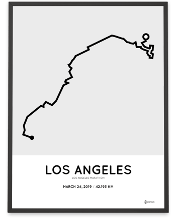 2019 Los Angeles marathoner map