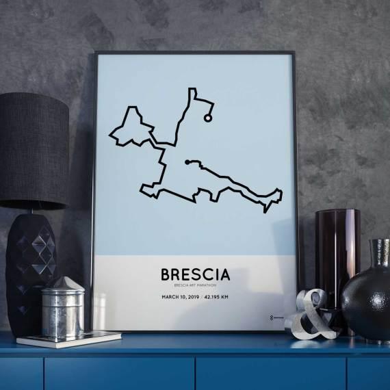 2019 Brescia Art marathon routemap print