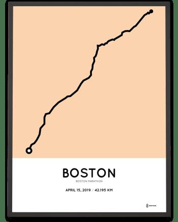 2019 Boston marathon sportymaps course poster
