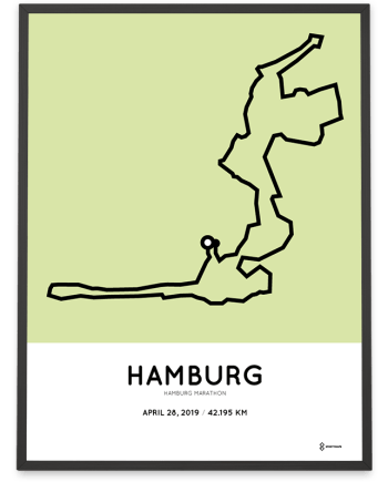 2019 Hamburg marathon strecke poster