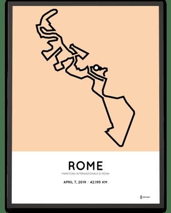 2019 Rom marathon coursemap poster