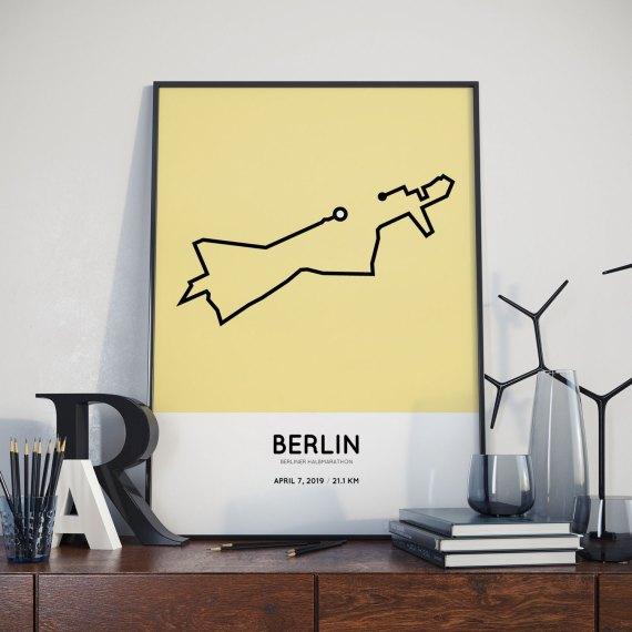 2019 Berliner halbmarathon strecke print