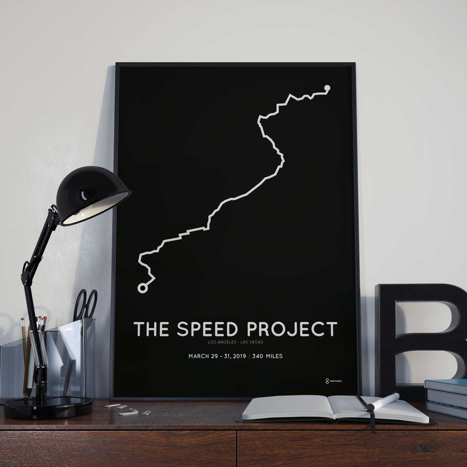 The Speed Project 2019 routemap sportymaps print