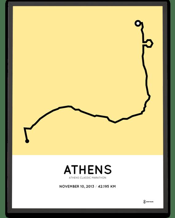 2013 Athens marathon course poster