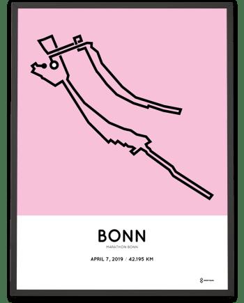 2019 Bonn marathon routemap print